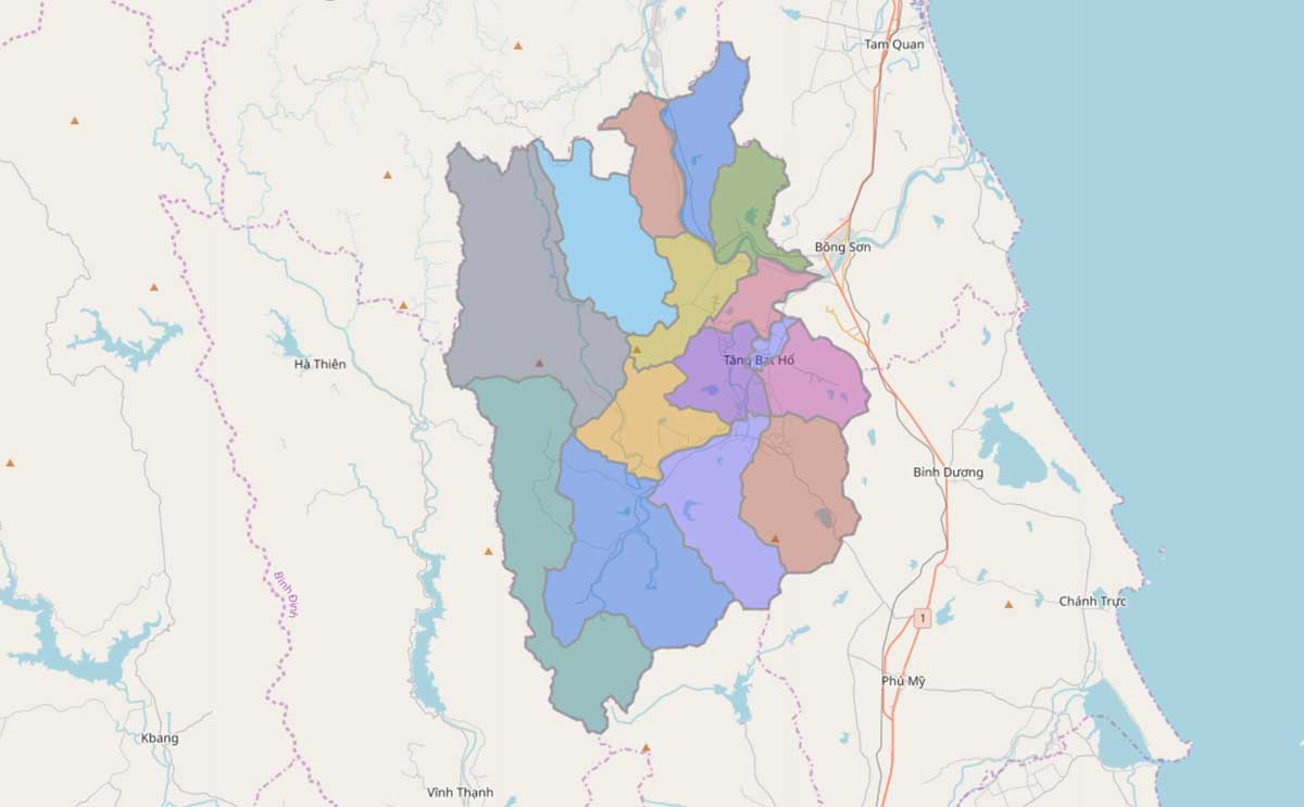 Bản đồ hành chính huyện Hoài Ân Bình Định - BẢN ĐỒ HÀNH CHÍNH TỈNH BÌNH ĐỊNH & THÔNG TIN QUY HOẠCH BÌNH ĐỊNH MỚI NHẤT