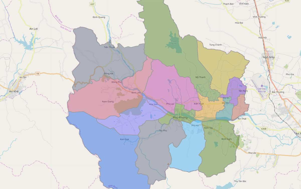 Bản đồ hành chính huyện Tây Sơn Bình Định - BẢN ĐỒ HÀNH CHÍNH TỈNH BÌNH ĐỊNH & THÔNG TIN QUY HOẠCH BÌNH ĐỊNH MỚI NHẤT