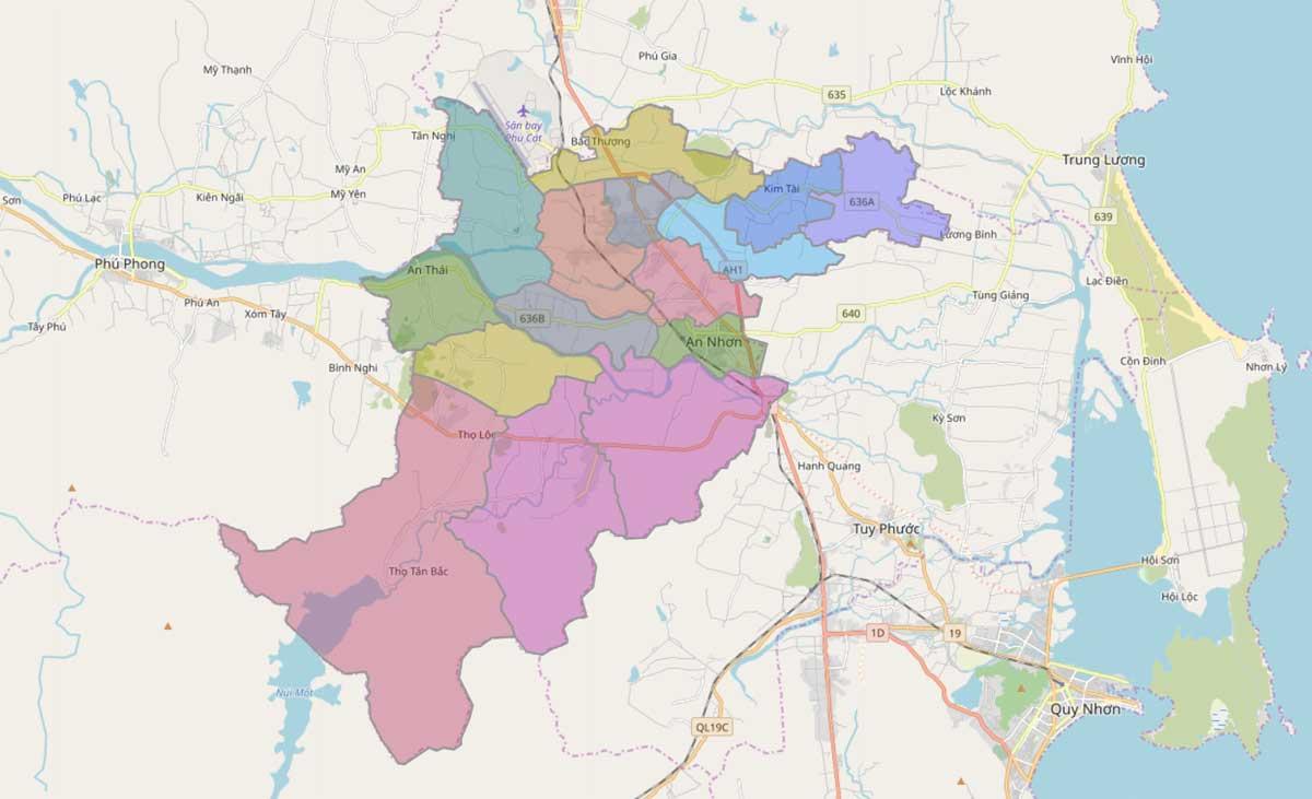 Bản đồ hành chính thị xã An Nhơn Bình Định - BẢN ĐỒ HÀNH CHÍNH TỈNH BÌNH ĐỊNH & THÔNG TIN QUY HOẠCH BÌNH ĐỊNH MỚI NHẤT
