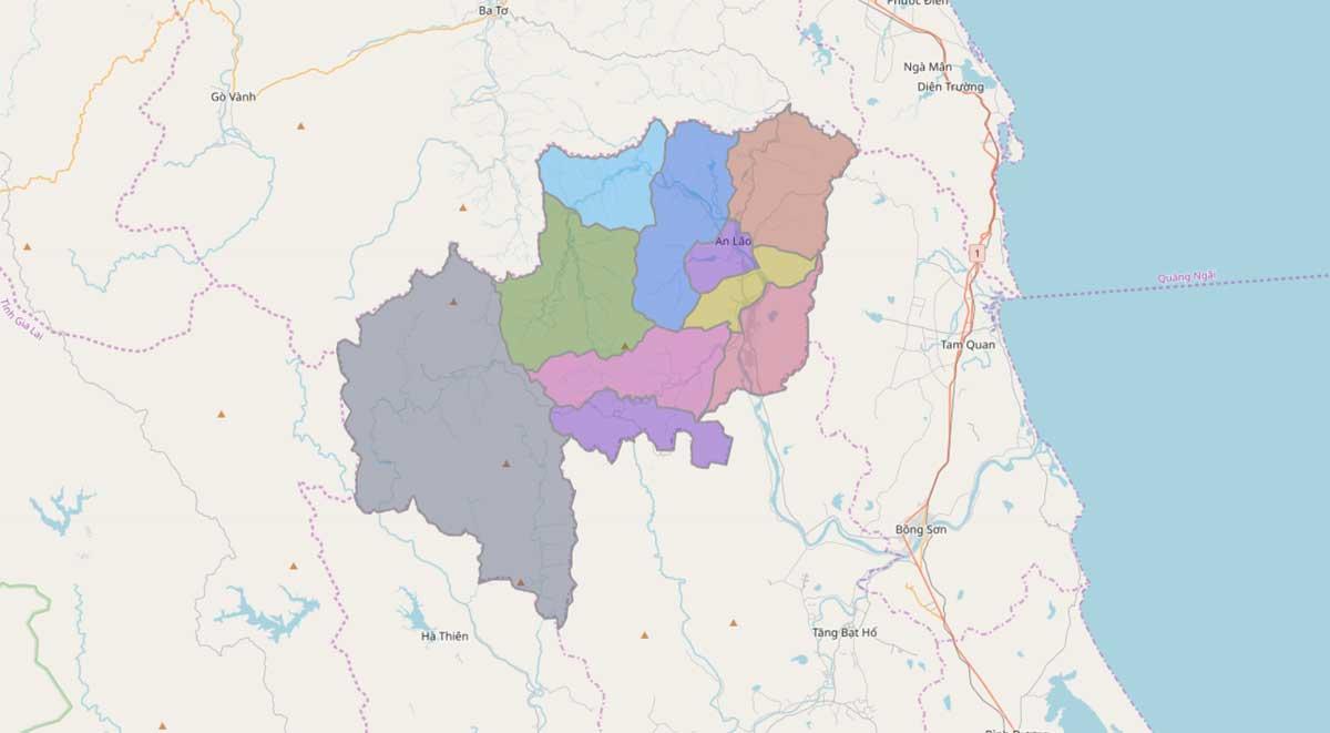 Bản đồ huyện An Lão Bình Định - BẢN ĐỒ HÀNH CHÍNH TỈNH BÌNH ĐỊNH & THÔNG TIN QUY HOẠCH BÌNH ĐỊNH MỚI NHẤT