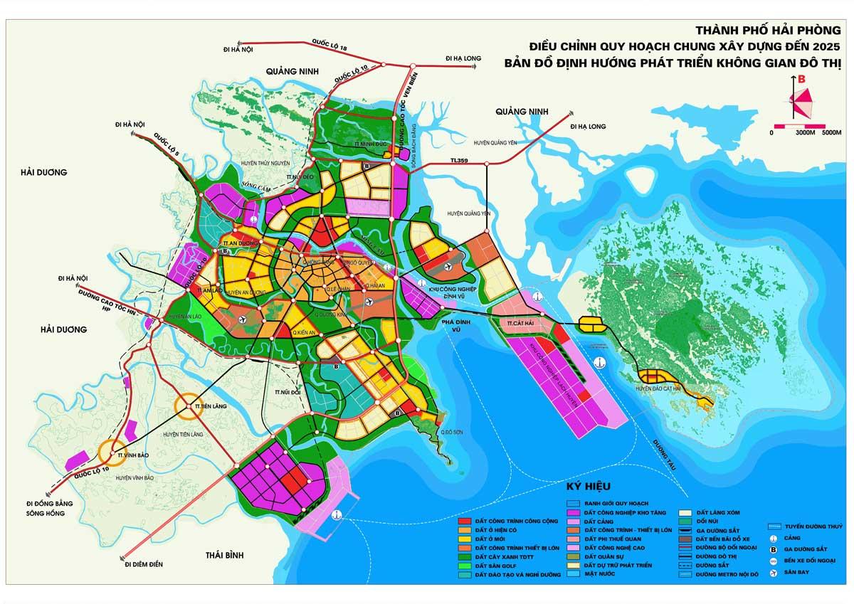 Bản vẽ Quy hoạch chung thành phố Hải Phòng - BẢN ĐỒ HÀNH CHÍNH THÀNH PHỐ HẢI PHÒNG & THÔNG TIN QUY HOẠCH HẢI PHÒNG MỚI NHẤT