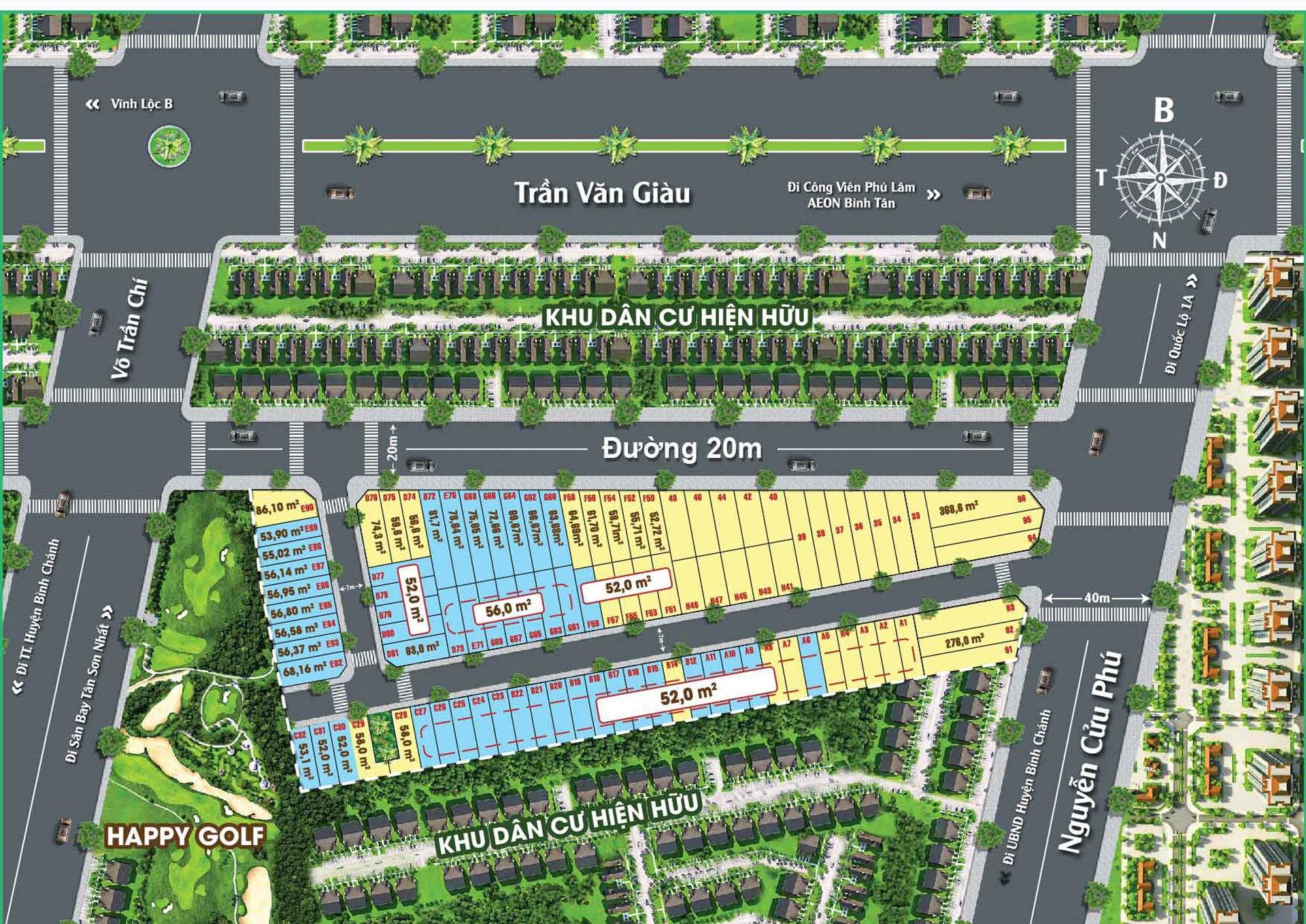 Mặt bằng phân lô Dự án Saigon West Broadway - DỰ ÁN SAIGON WEST BROADWAY BÌNH TÂN