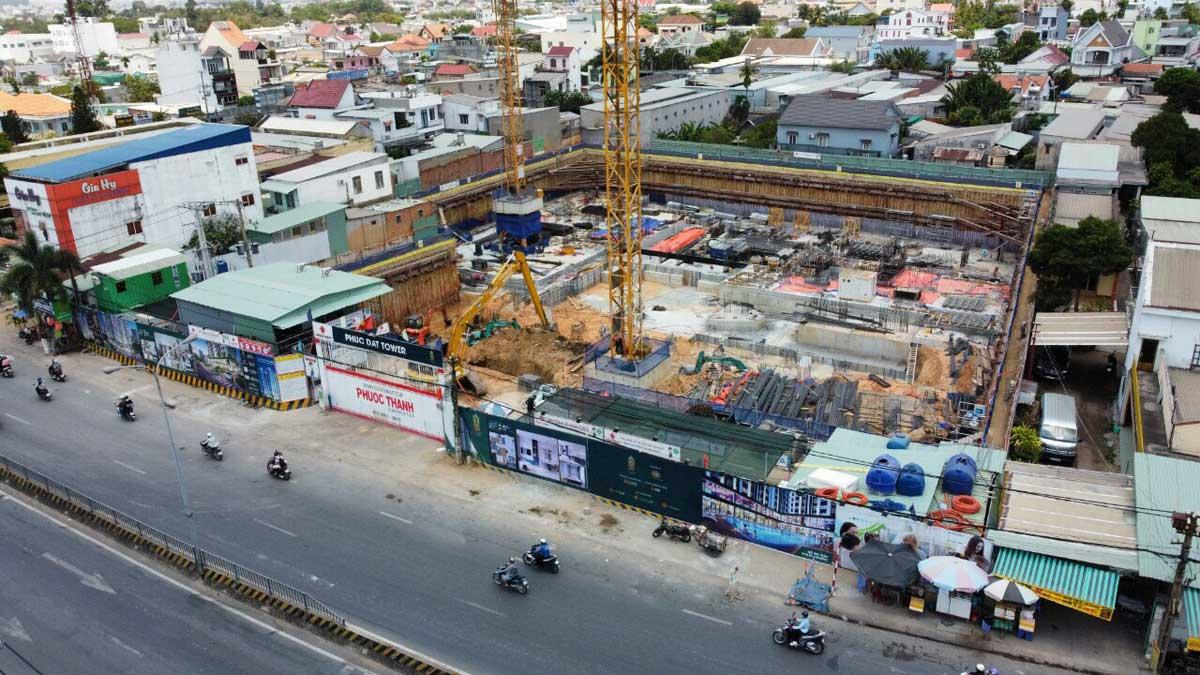 Tien do thi cong Du an Can ho Phuc Dat Tower Binh Duong - PHÚC ĐẠT TOWER