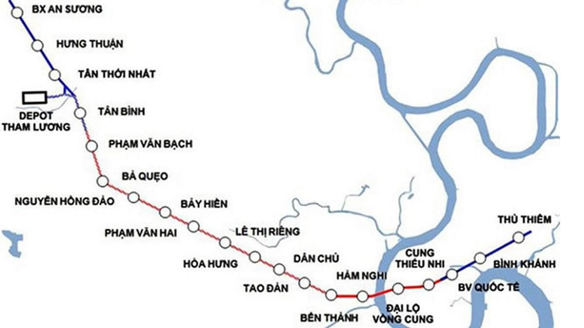 he thong nha ga tuyen metro so 2 - Thông tin Tuyến Metro số 2: Bến Thành – Tham Lương