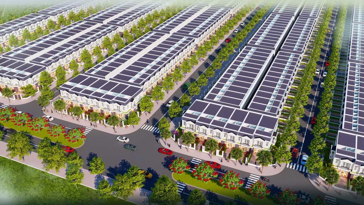 phoi canh nha pho du an nam an new city binh duong - NAM AN NEW CITY BÀU BÀNG BÌNH DƯƠNG