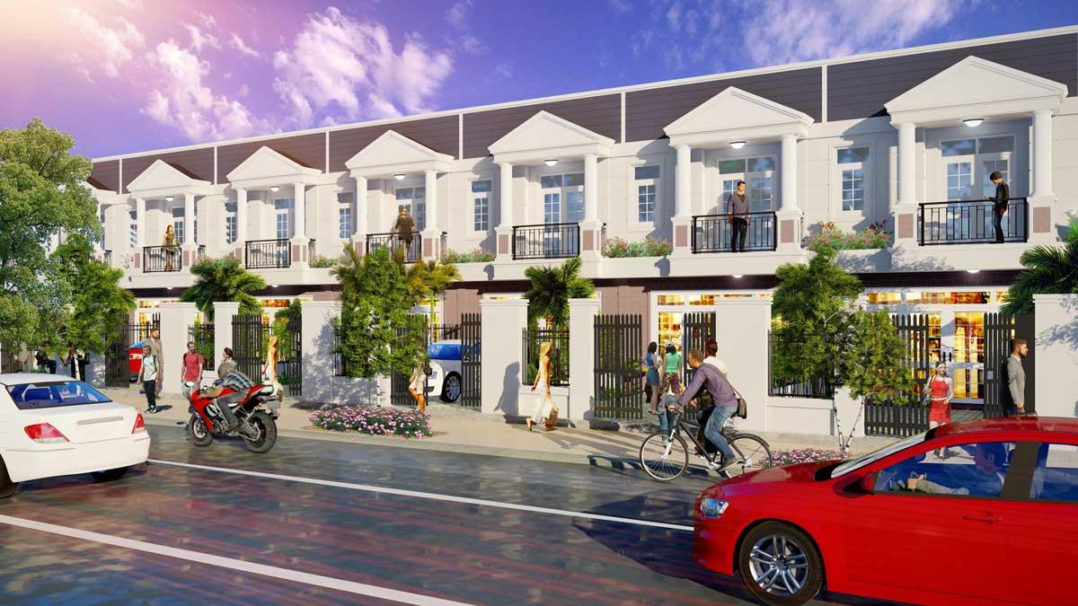 phoi canh nha pho nam an new city - NAM AN NEW CITY BÀU BÀNG BÌNH DƯƠNG