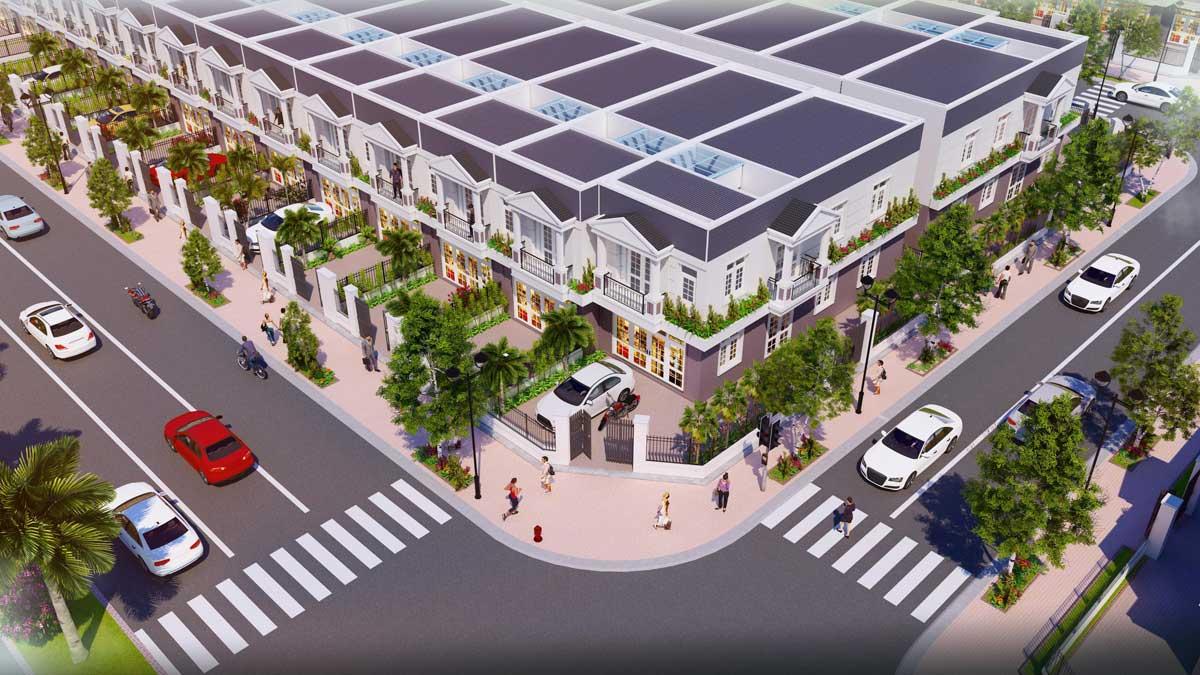 phoi canh nha pho shophouse du an nam an new city - NAM AN NEW CITY BÀU BÀNG BÌNH DƯƠNG