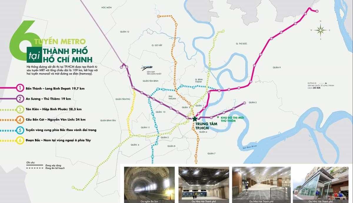so do 6 tuyen metro tai tphcm - SƠ ĐỒ CÁC TUYẾN METRO TP.HCM