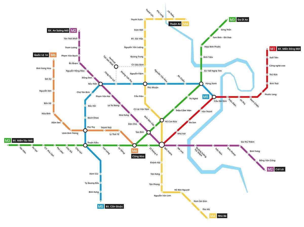 so do cac tuyen metro tphcm - SƠ ĐỒ CÁC TUYẾN METRO TP.HCM