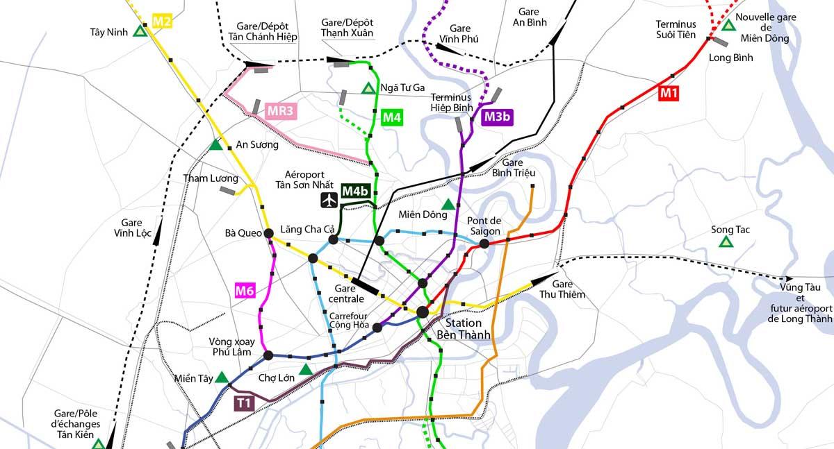 so do dinh tuyen metro so 4 - Thông tin Tuyến Metro Số 4: Thạnh Xuân Quận 12 - Khu đô thị Hiệp Phước