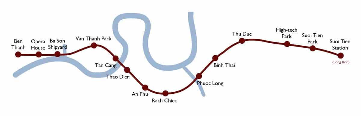 so do tuyen metro so 1 ben thanh tham luong - SƠ ĐỒ CÁC TUYẾN METRO TP.HCM
