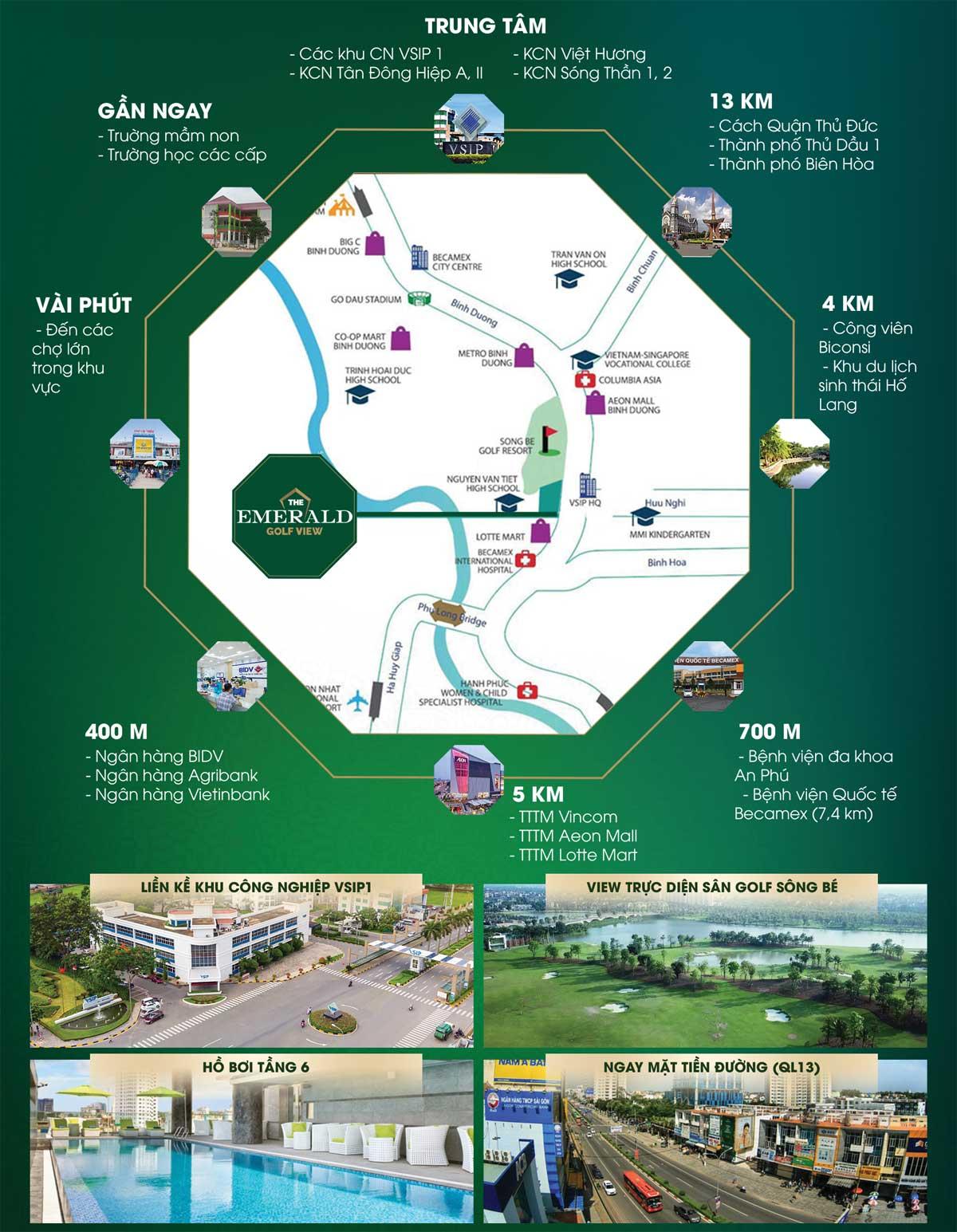 tien ich lien ket vung du an the emerald golf view binh duong - THE EMERALD GOLF VIEW BÌNH DƯƠNG