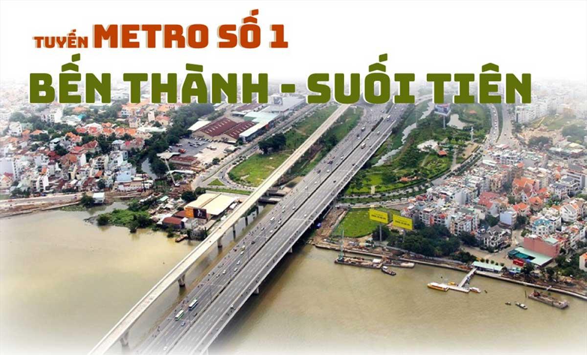 tuyen metro so 1 - Thông tin về Sơ đồ Tuyến Metro số 1: Bến Thành – Suối Tiên