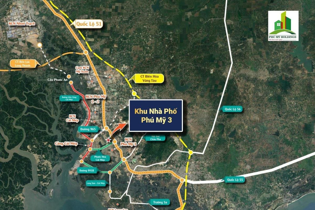 vi tri map pho chuyen gia phu my 3 - ĐẤT NỀN NHÀ PHỐ CHUYÊN GIA PHÚ MỸ 3