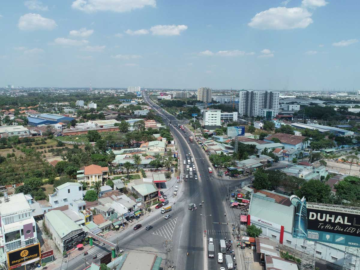 Cầu vượt Vsip Cầu ông bố Thuận An Vsip - Định hướng quy hoạch Tỉnh Bình Dương mới nhất