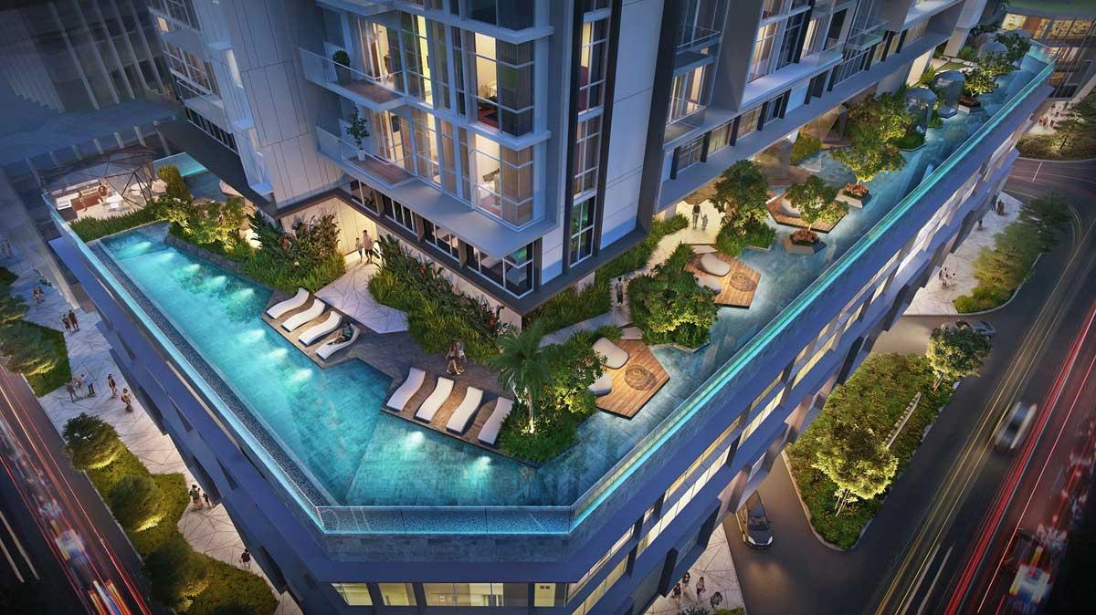 Khu hồ bơi Căn hộ The Crest Residence Thủ Thiêm - THE CREST RESIDENCE