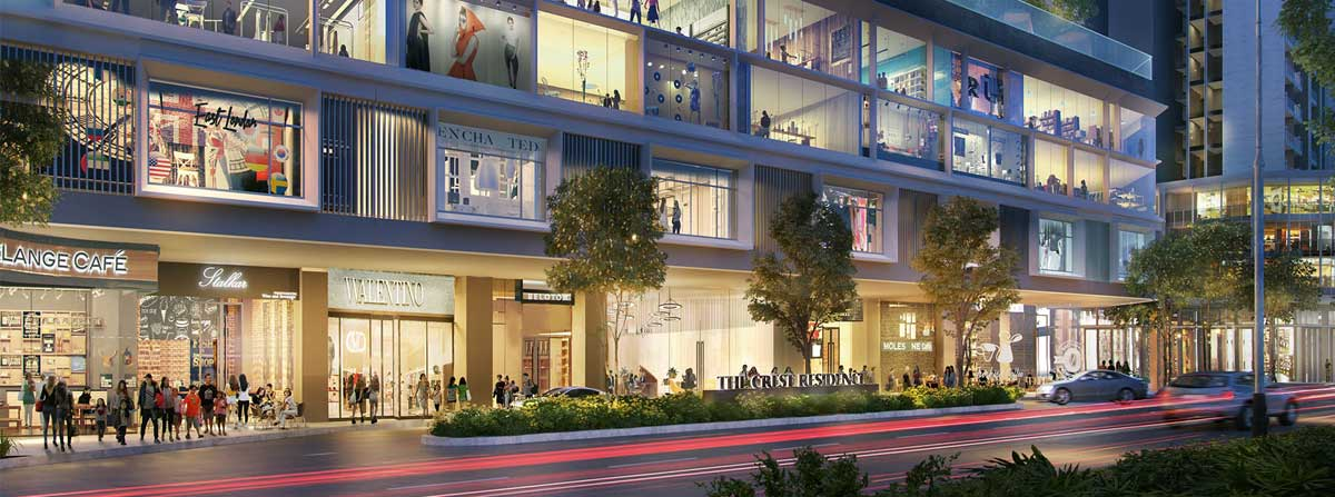 Khu trung tâm thương mại Căn hộ The Crest Residence Thủ Thiêm - THE CREST RESIDENCE