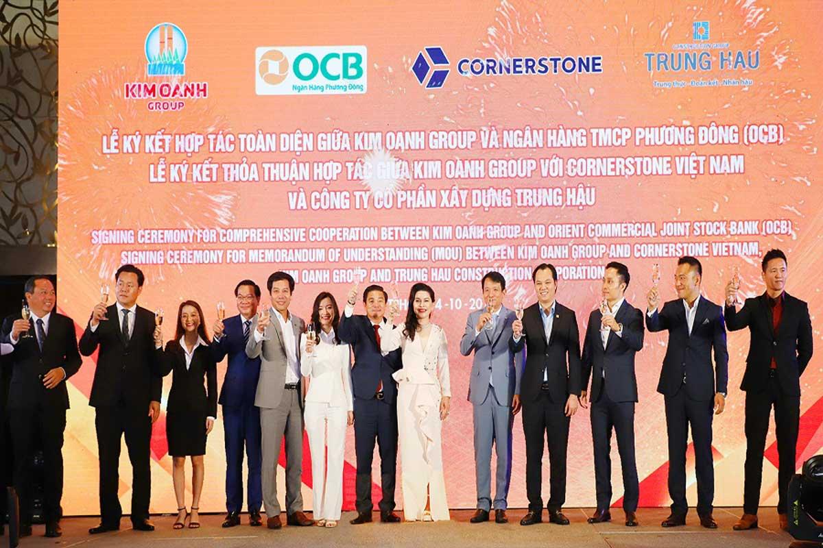 Kim Oanh Group hợp tác chiến lược với OCB CornerStone Việt Nam và Trung Hậu - KIM OANH GROUP