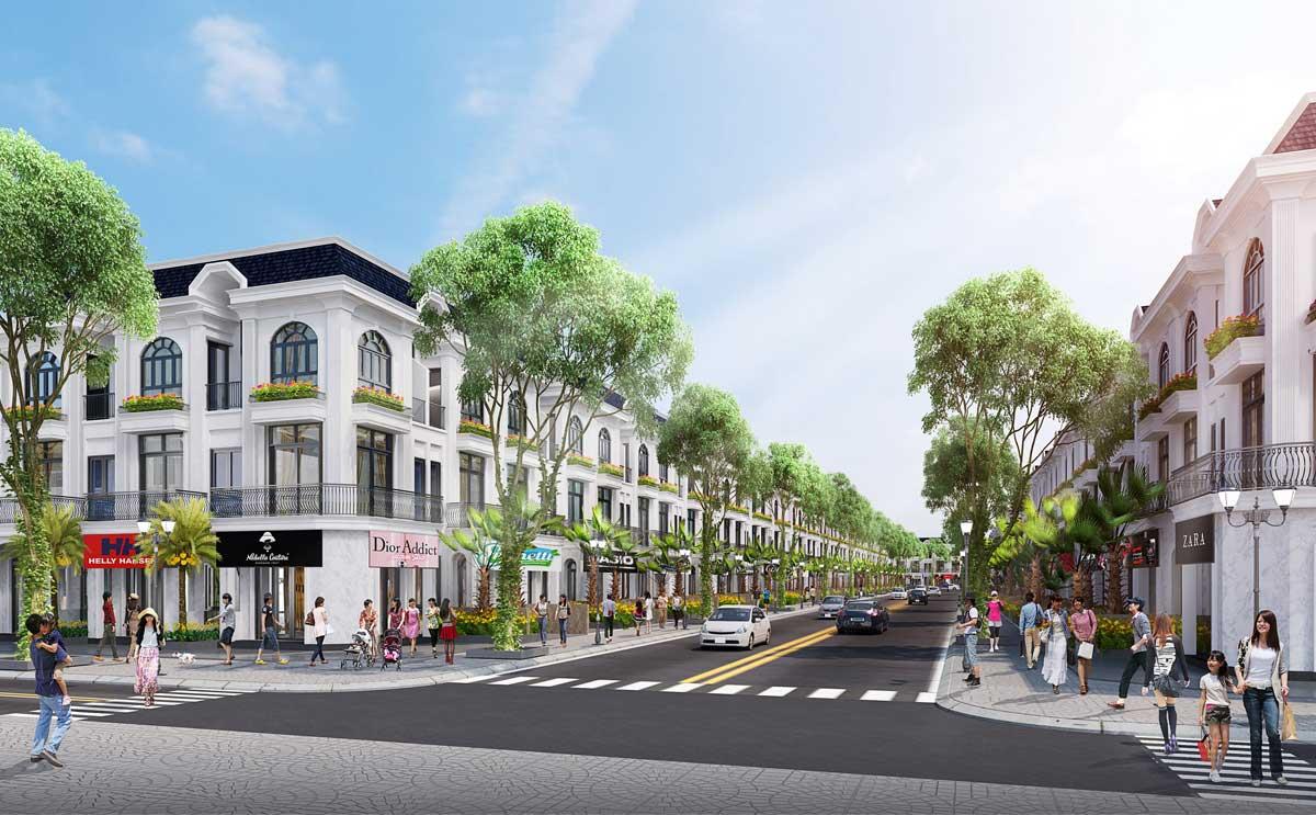 Phối cảnh nhà phố thương mại Phú Mỹ Golden Hill - PHÚ MỸ GOLDEN HILL BÀ RỊA VŨNG TÀU