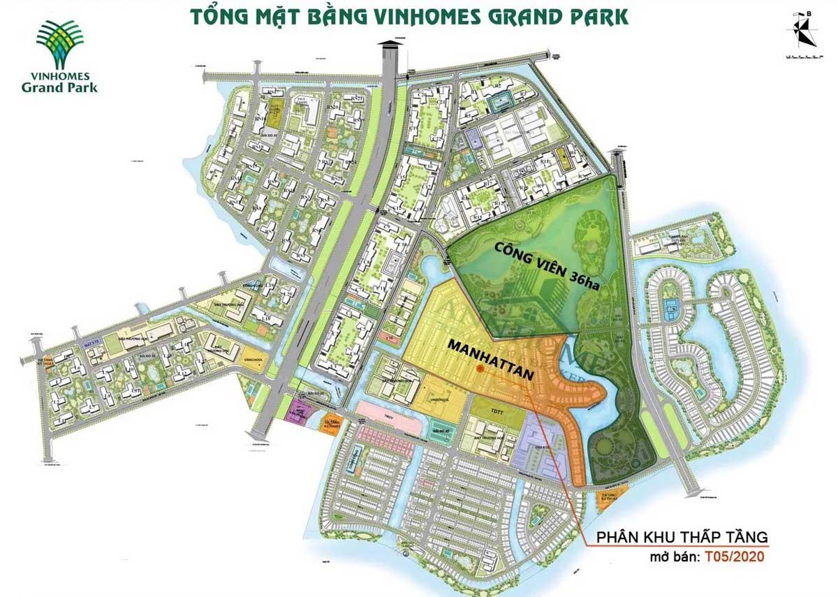 Tổng thể Phân khu nhà phố The Manhattan Vinhomes Grand Park - NHÀ PHỐ THE MANHATTAN - VINHOMES GRAND PARK