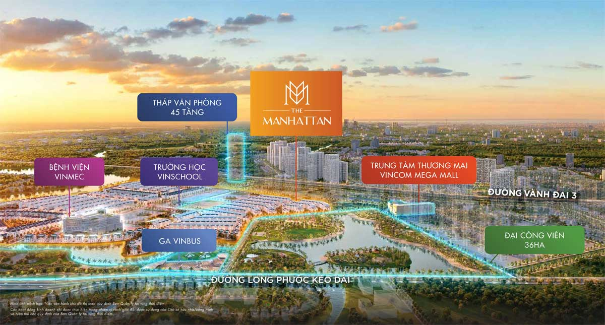 VI TRI THE MANHATTAN TRONG VINHOMES CENTRAL PARK - NHÀ PHỐ THE MANHATTAN QUẬN 9 - VINHOMES GRAND PARK