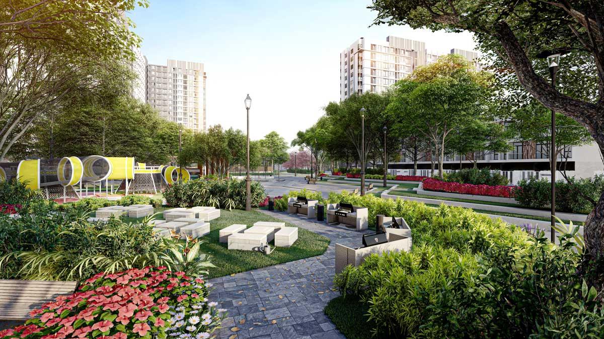 công viên nội khu dự án picity high park - PICITY HIGH PARK QUẬN 12