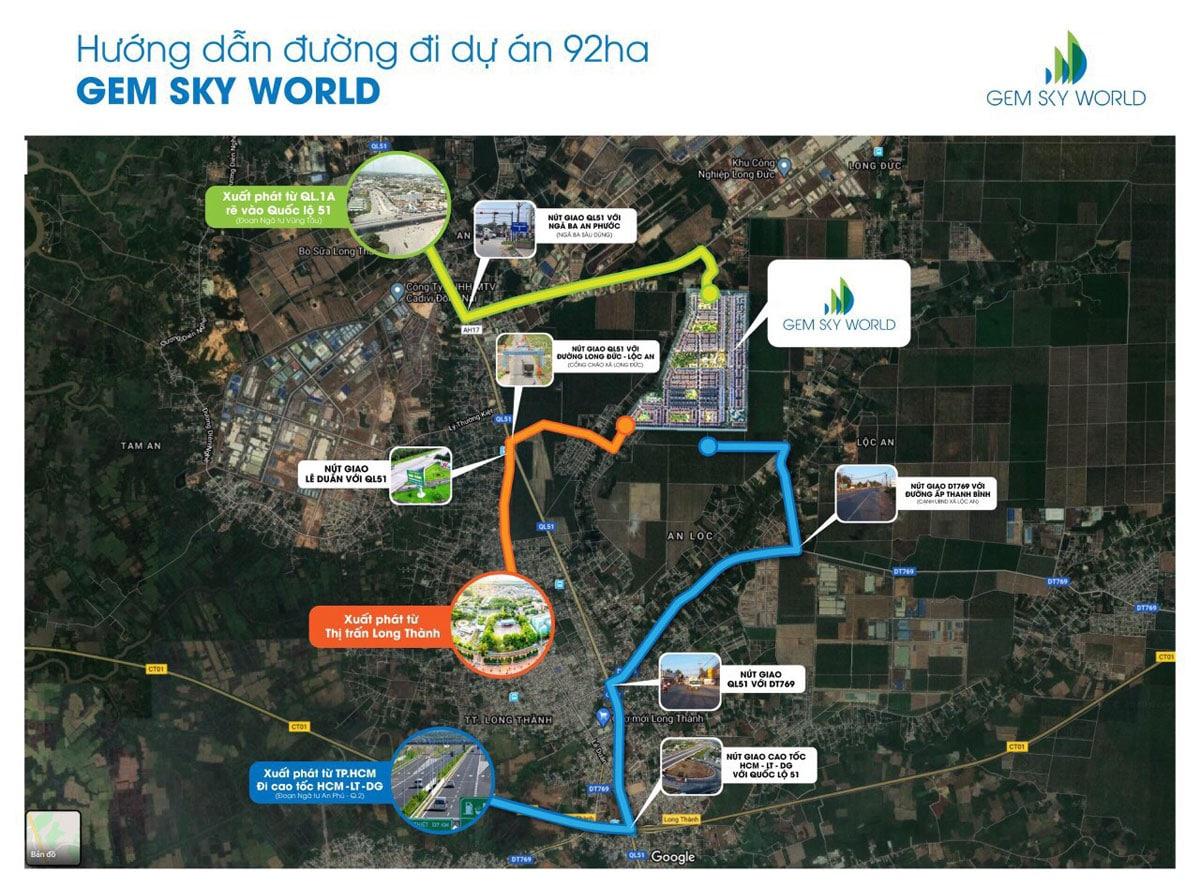 Đường vào Dự án Khu đô thị Thương mại Giải trí Gem Sky World