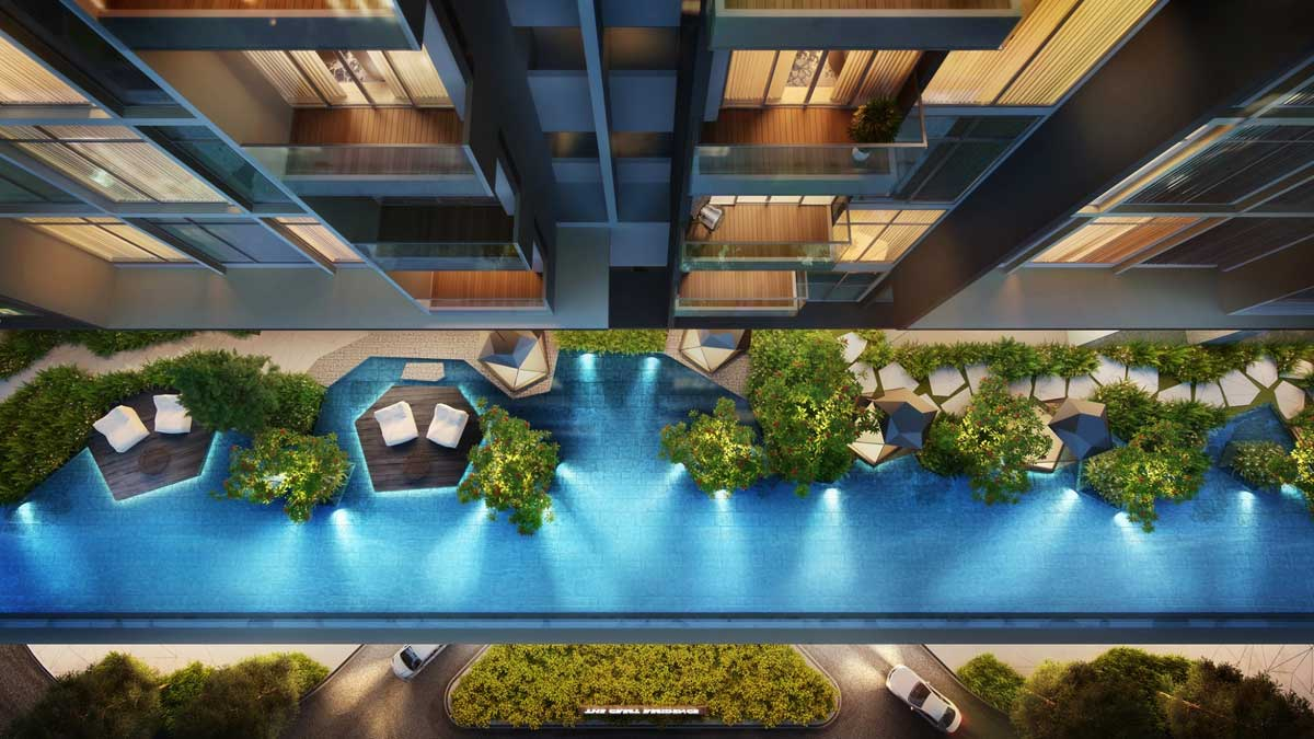 hồ bơi Dự án Căn hộ The Crest Residence Thủ Thiêm - THE CREST RESIDENCE