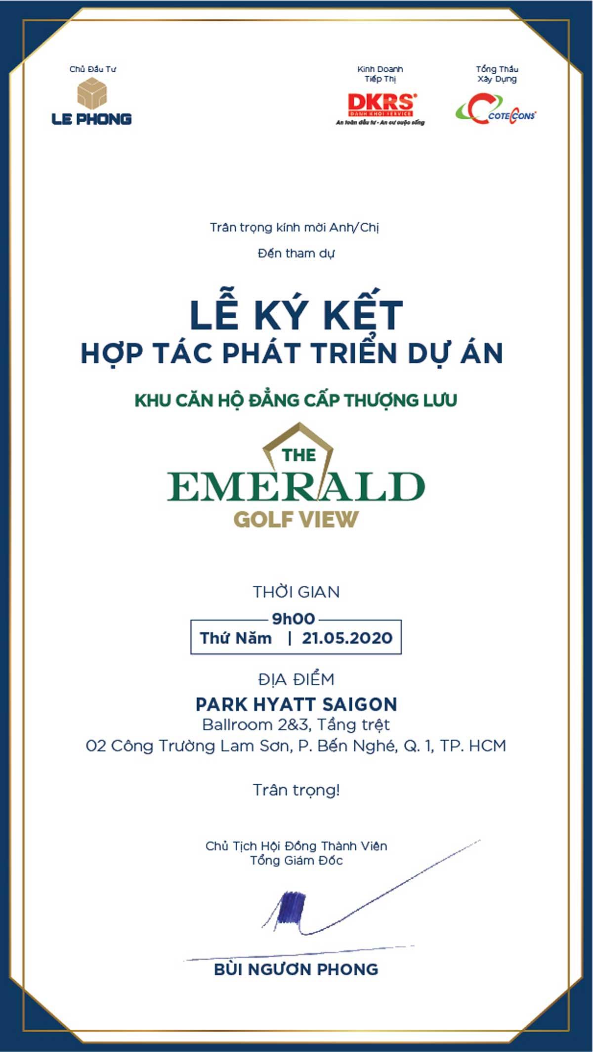 lễ ký kết hợp tác phát triển dự án khu căn hộ the emerald golf view - LỄ KÝ KẾT HỢP TÁC PHÁT TRIỂN DỰ ÁN KHU CĂN HỘ THE EMERALD GOLF VIEW
