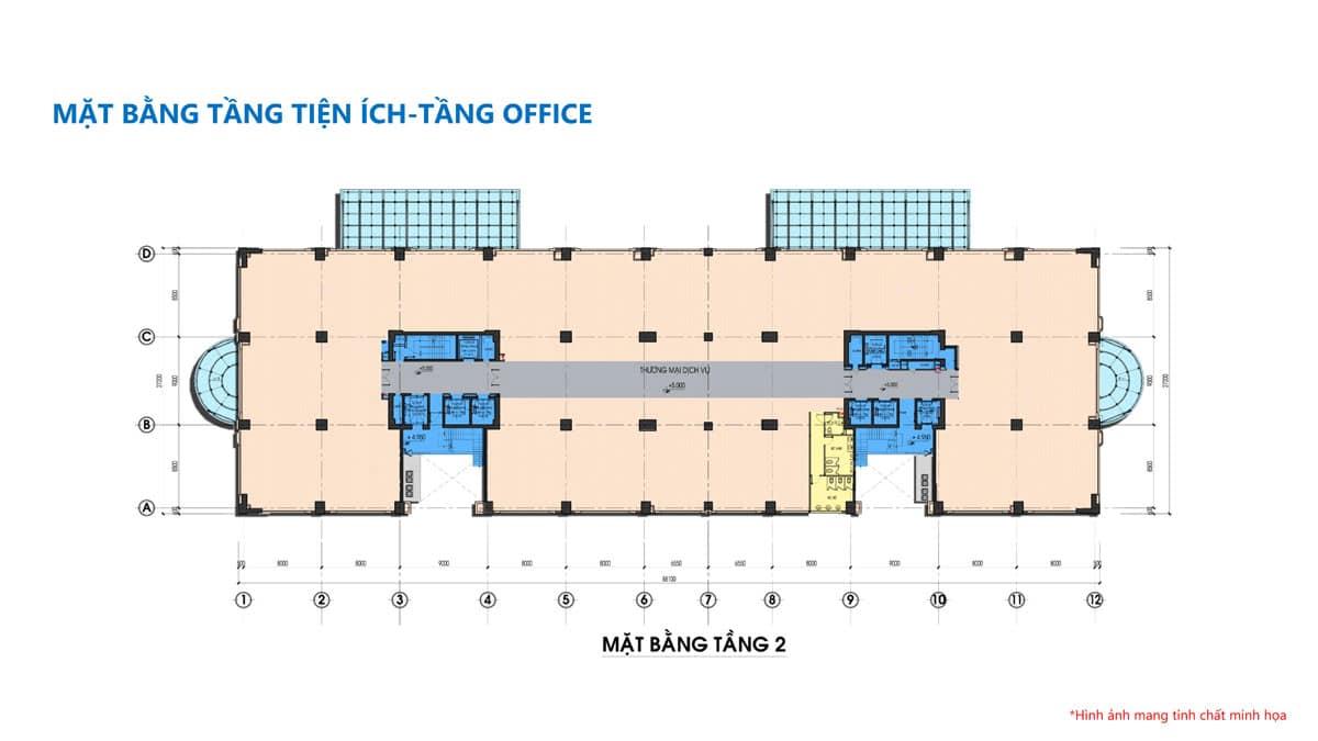 mat bang tang 2 du an tam duc plaza - TAM ĐỨC PLAZA QUẬN 5