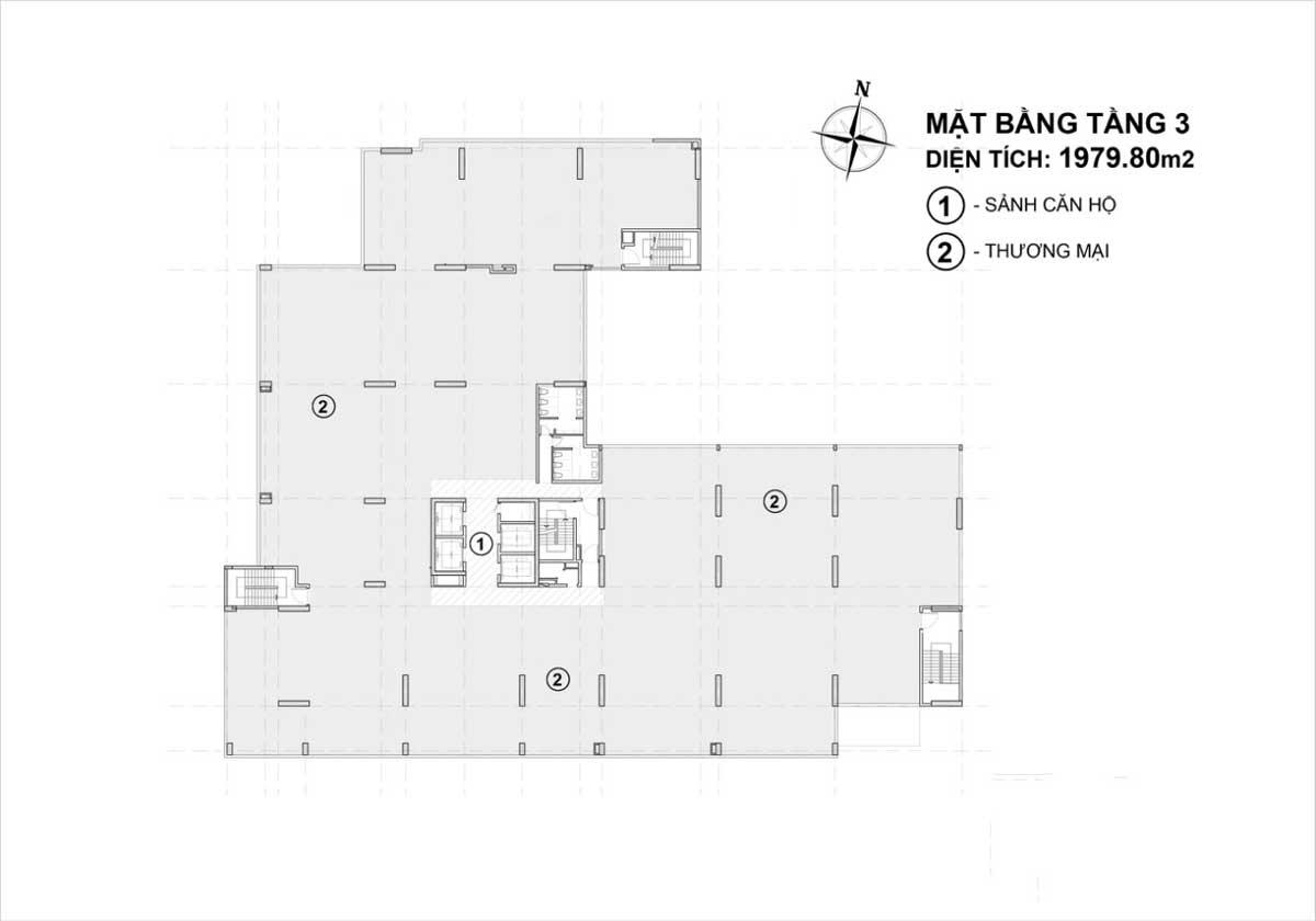 mat bang tang 3 du an venus luxury - VENUS LUXURY QUẬN 5