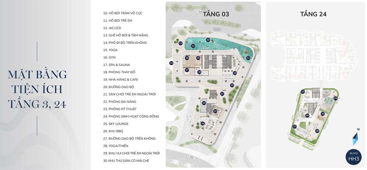 mat bang tien ich tang 3 va 21 du an the aston - THE ASTON LUXURY RESIDENCE NHA TRANG
