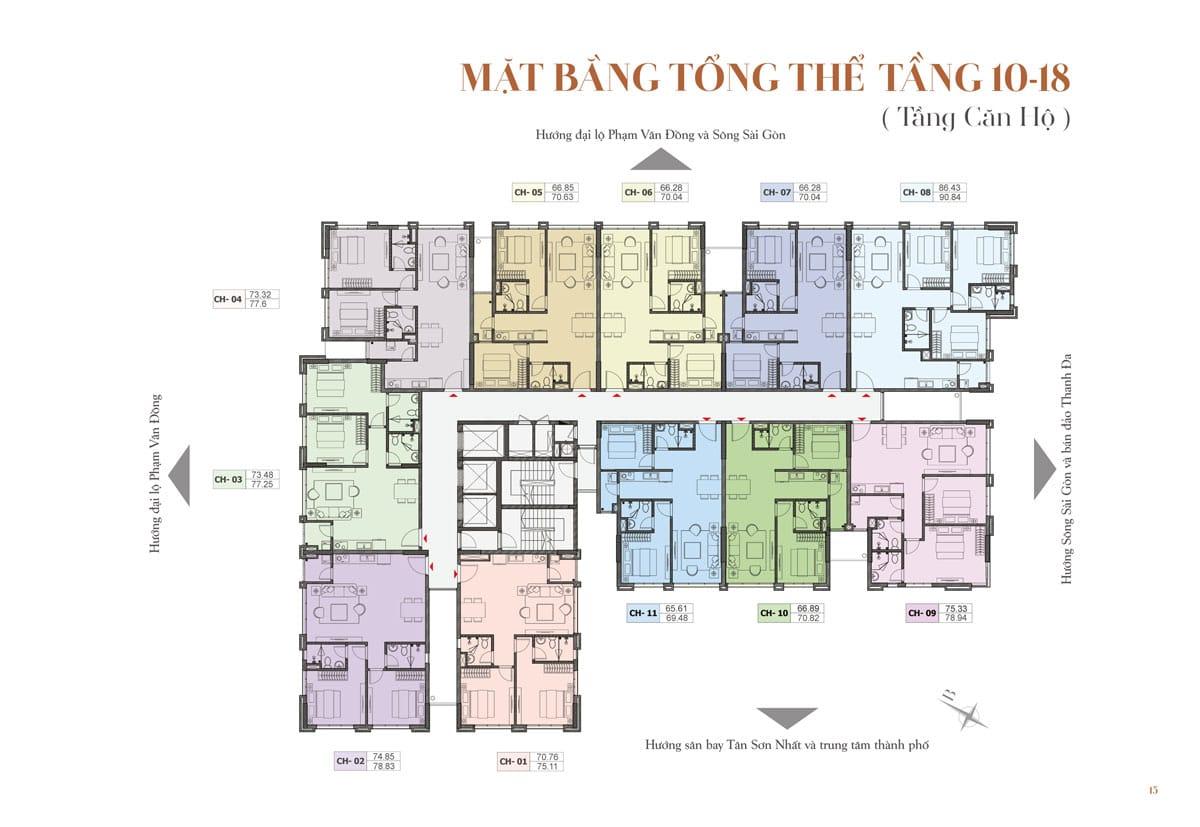 mat bang tong the tang 10 18 du an st moritz - DỰ ÁN CĂN HỘ ST MORITZ PHẠM VĂN ĐỒNG THỦ ĐỨC