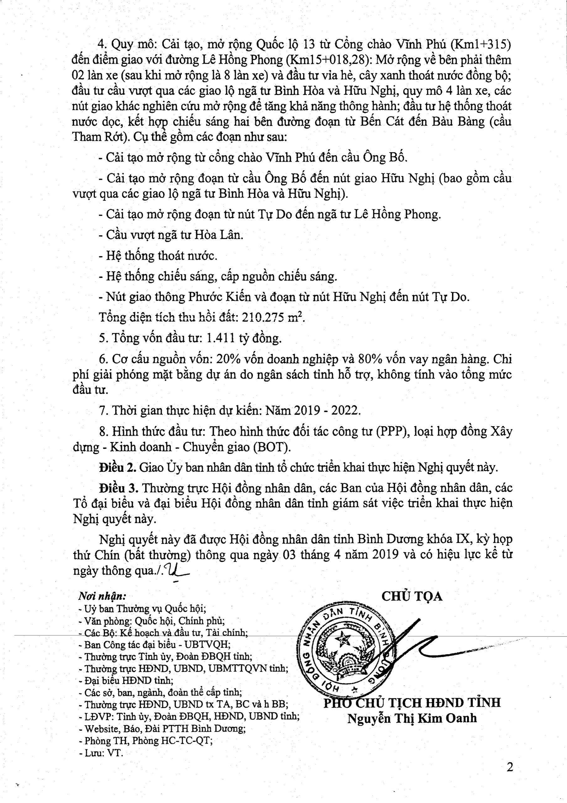 nghi quyet chu truong dau tu mo rong duong quoc lo 13 binh duong scaled - Định hướng quy hoạch Tỉnh Bình Dương mới nhất