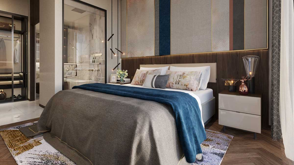 phòng ngủ Căn hộ The Crest Residence Thủ Thiêm - THE CREST RESIDENCE