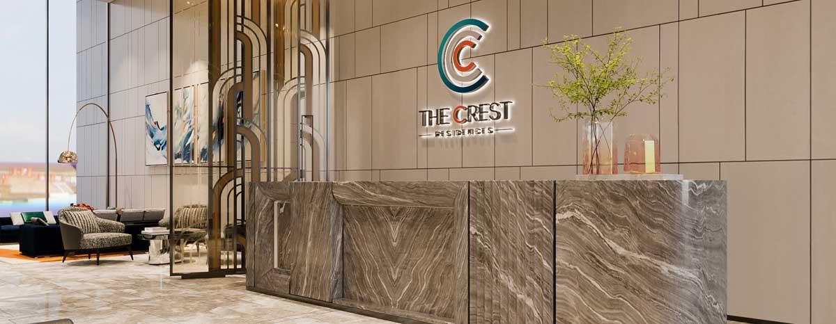 sảnh đón Căn hộ The Crest Residence Thủ Thiêm - THE CREST RESIDENCE