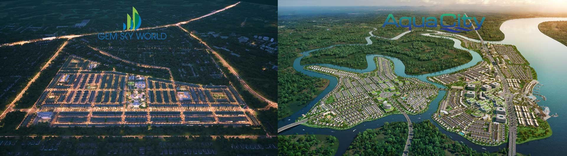 so sanh du an gem sky world va aqua city - Dự án Aqua city của Novaland và Gem Sky world của Đất Xanh có gì khác biệt