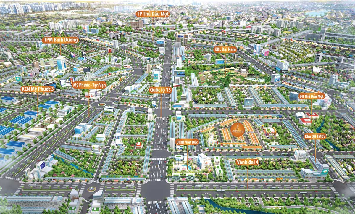 toan canh khu du an binh duong avenue city - BÌNH DƯƠNG AVENUE CITY