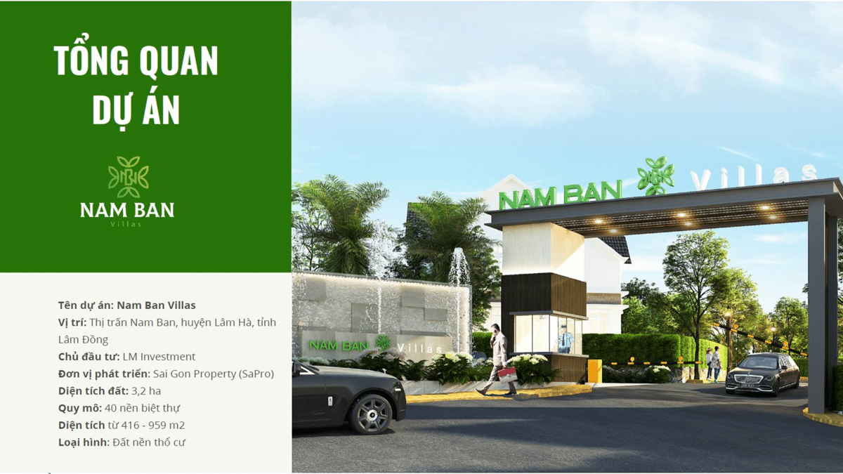 tong the du an nam ban villas - NAM BAN VILLAS LÂM ĐỒNG