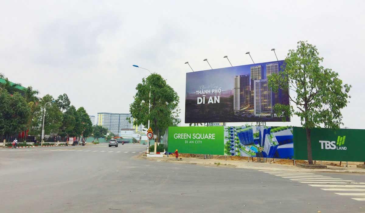 truc chinh quoc lo 1k truoc du an can ho green tower - GREEN TOWER DĨ AN BÌNH DƯƠNG