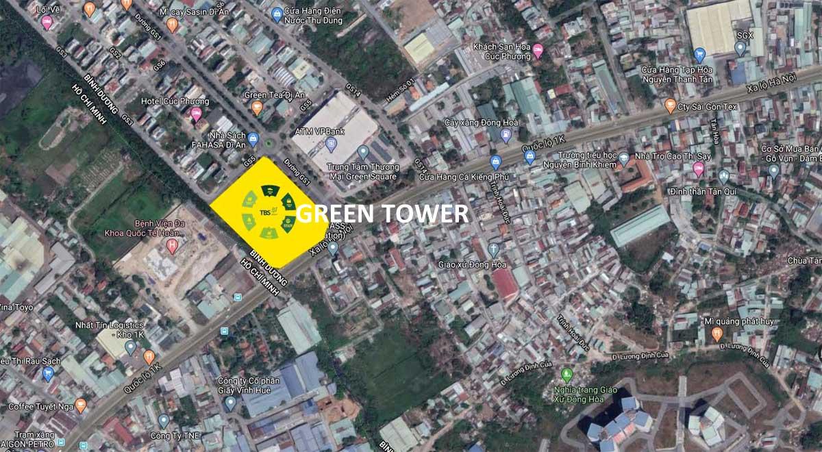 vi tri du an can ho green tower - GREEN TOWER DĨ AN BÌNH DƯƠNG