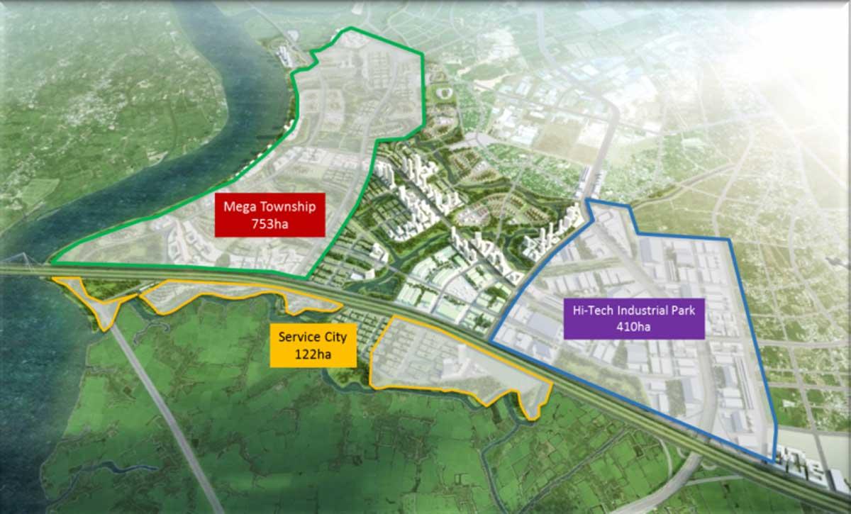 3 phan khu chinh cua amata city long thanh - AMATA CITY LONG THÀNH