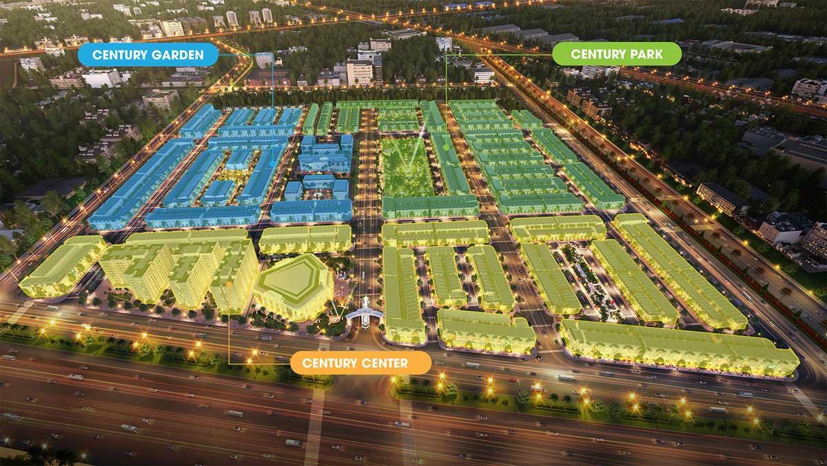 3 phan khu chinh du an century city long thanh - CENTURY CITY LONG THÀNH ĐỒNG NAI