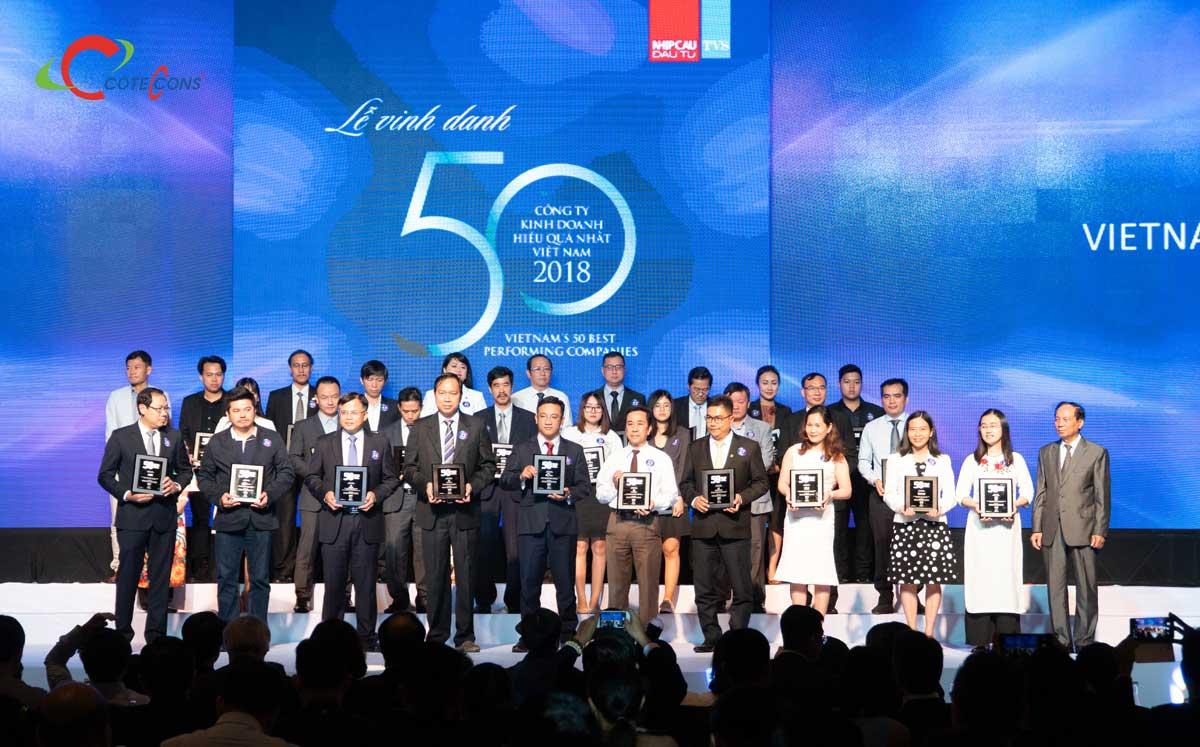 Coteccons thuộc Top 50 Công ty Kinh doanh Hiệu quả nhất Việt Nam năm 2018 - CÔNG TY CỔ PHẦN XÂY DỰNG COTECCONS