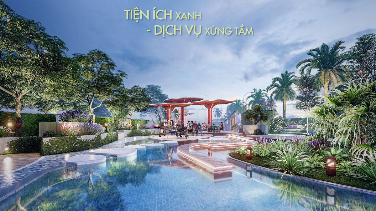 TIen ich ho boi noi khu Thao Dien Green - Thảo Điền Green Towers Quận 2