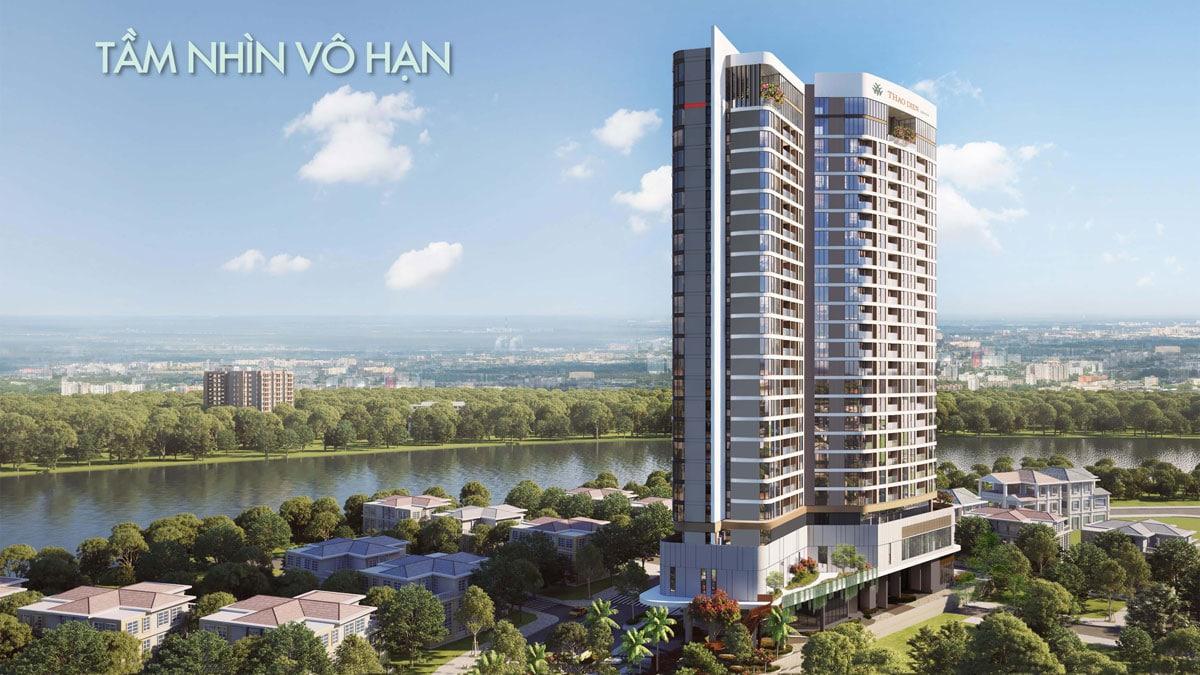 Tam nhin vo cuc tu Thao Dien Green - Thảo Điền Green Towers Quận 2
