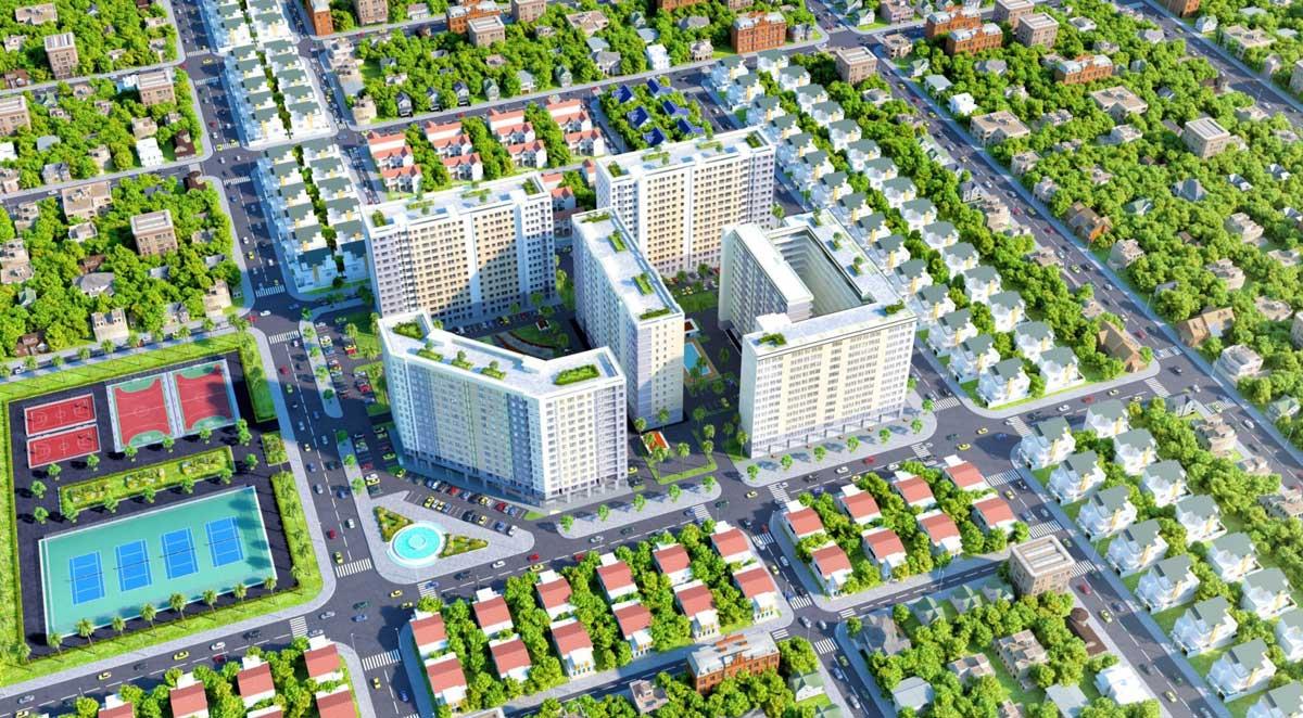Phối cảnh Dự án Căn hộ Green Town Bình Tân