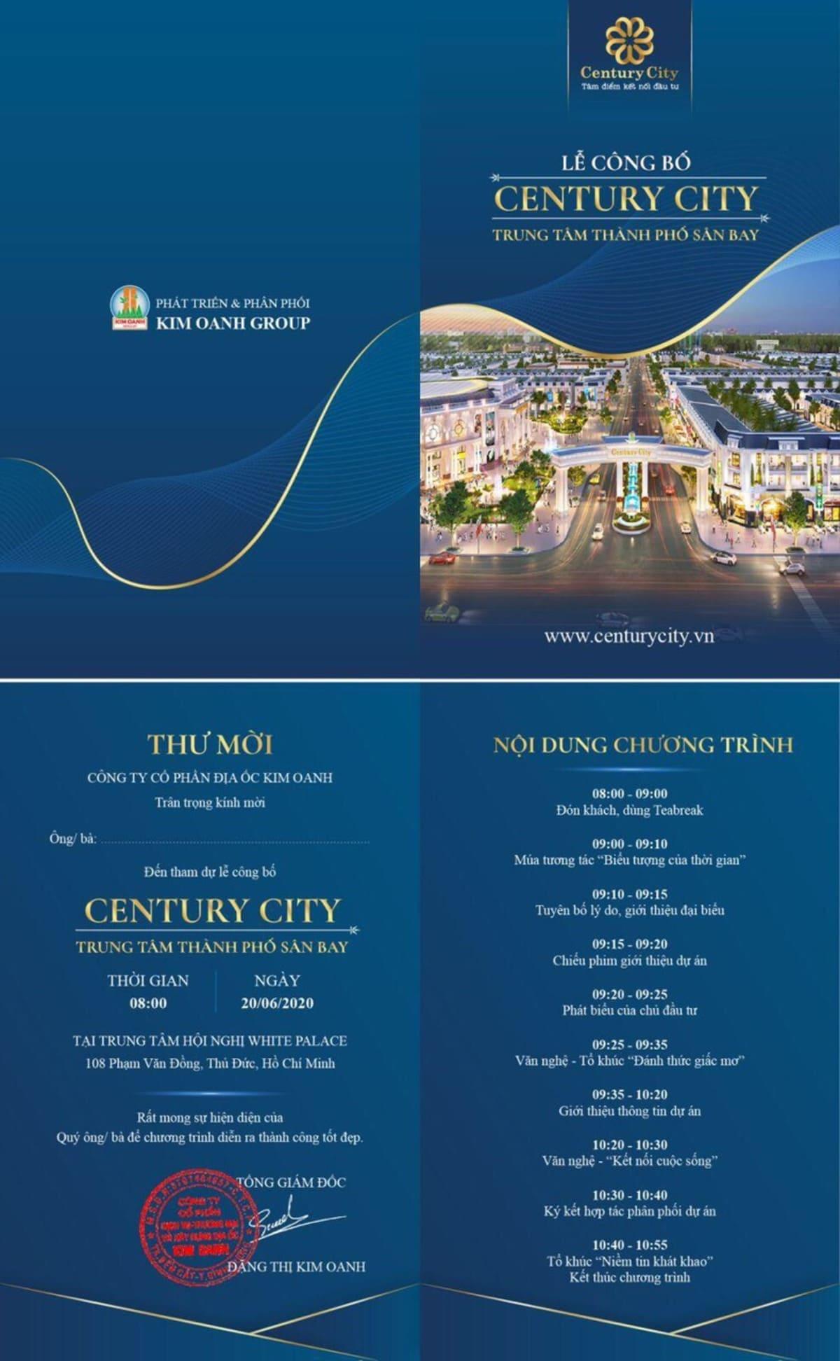 le cong bo century city - Lễ công bố Century City vào 20 06 2020