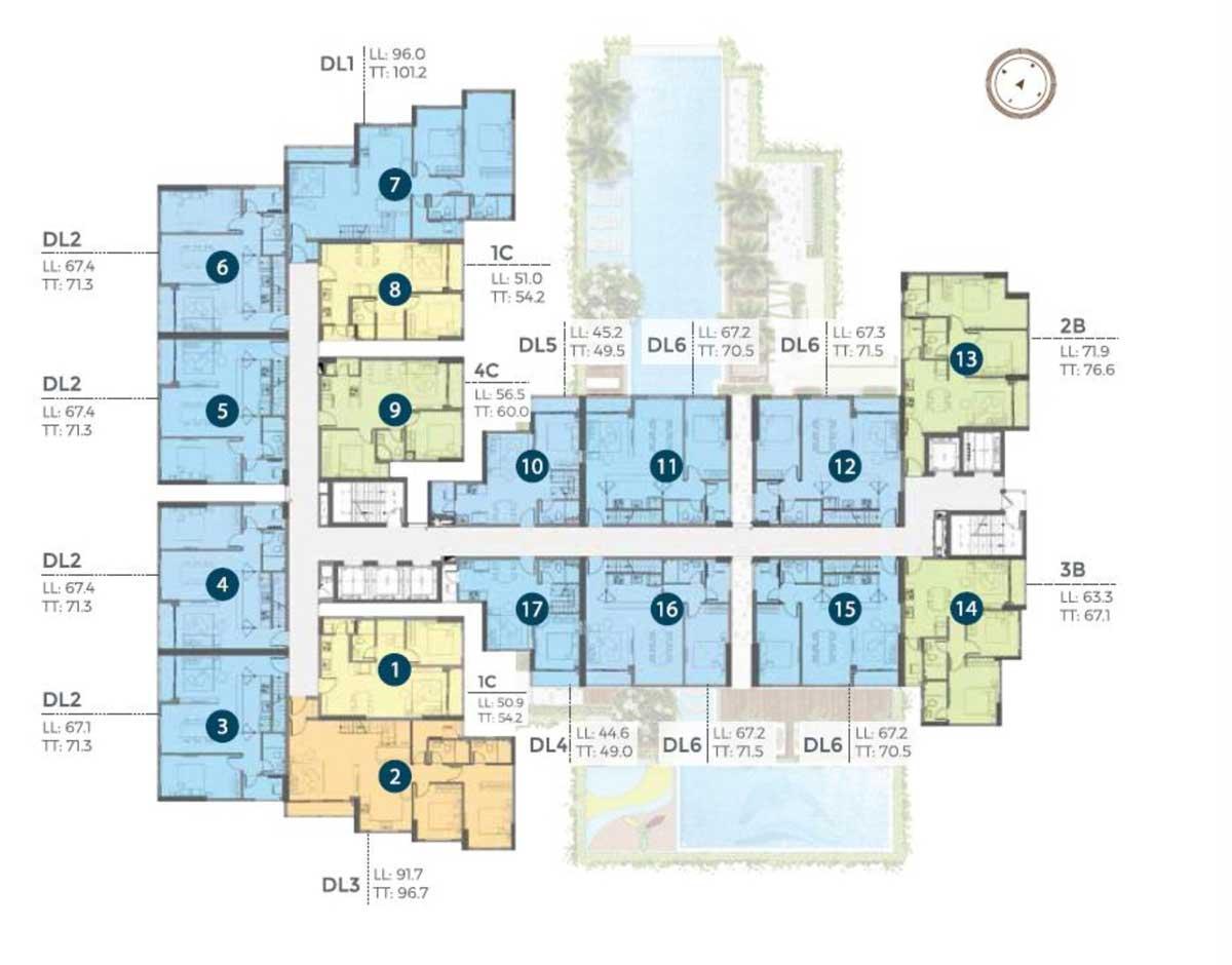 mat bang penhouse tang 22 precia - PRECIA QUẬN 2