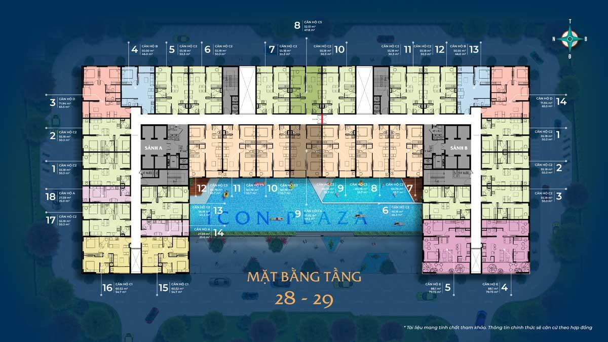mat bang tang 28 29 du an icon plaza - ICON PLAZA BÌNH DƯƠNG